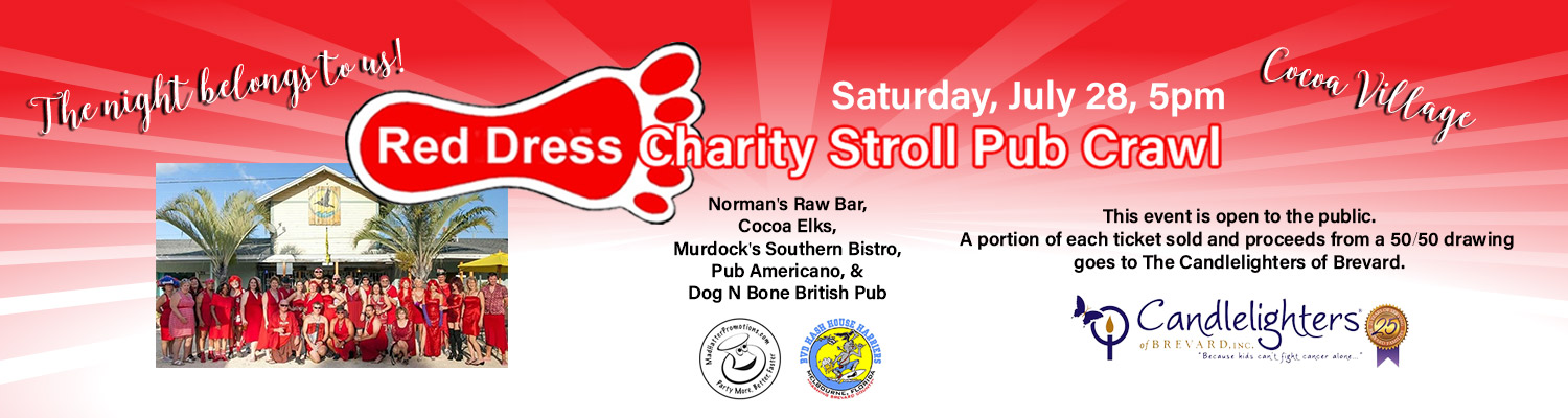 2018 Red Dress Charity Stroll Pub Crawl Cocoa Village