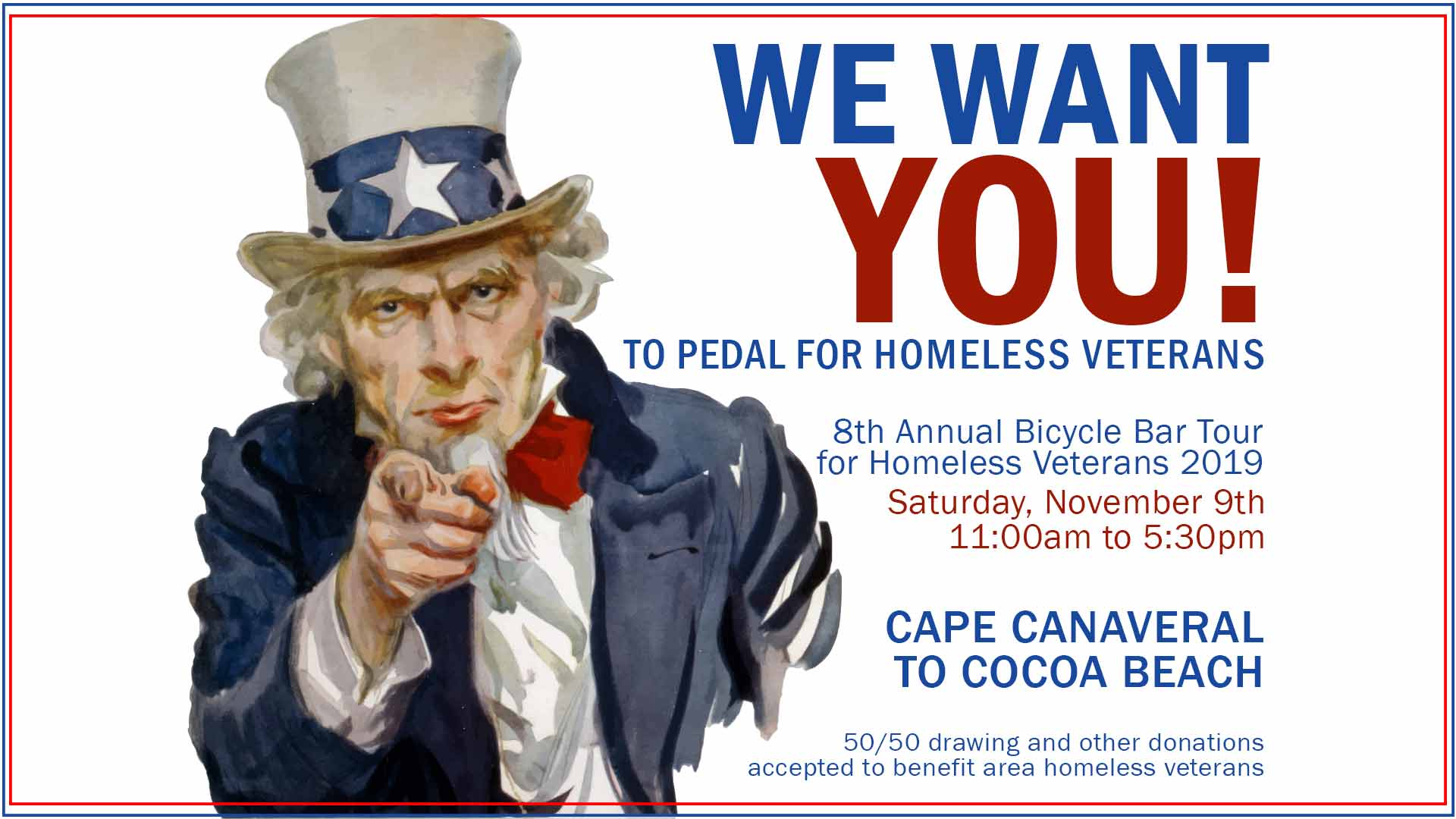 2019 Bicycle Bar Tour for Homeless Veterans