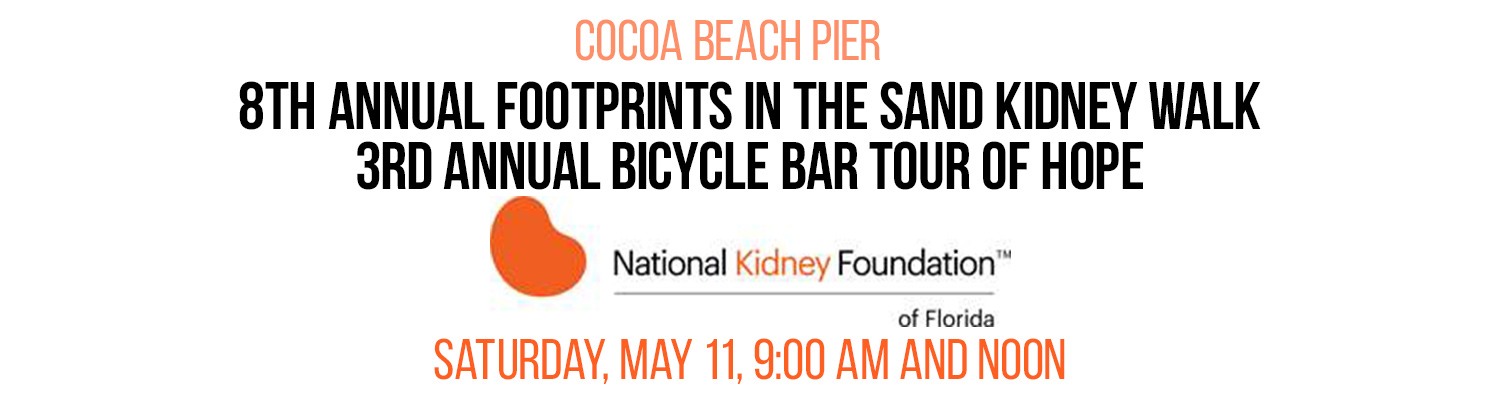 8th Annual Footprints in the Sand Kidney Walk and the 3rd Annual Bicycle Bar Tour of Hope