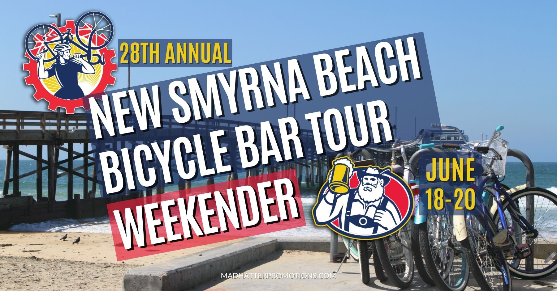 28th Annual New Smyrna Beach Bicycle Bar Tour Weekender 2021