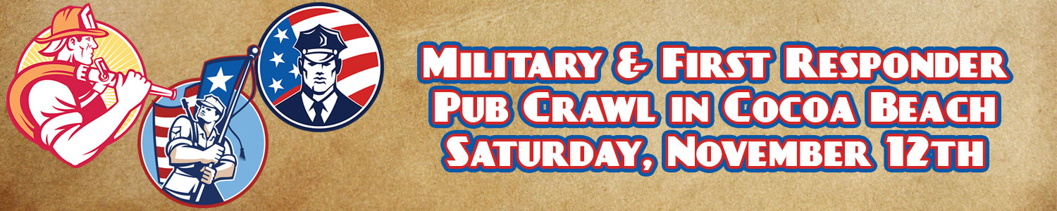 US MILITARY and First Responders Pub Crawl