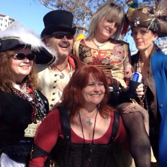 Gary Haas and guests of Mad Hatter Promotions at Gasparilla Pirate Fest in Tampa
